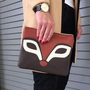 Fox clutch from Charming Charlie.